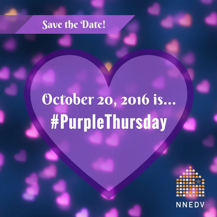 #PurpleThursday is 10/20/2016. Sign up to show your support: http://NNEDV.org/PurpleThursday