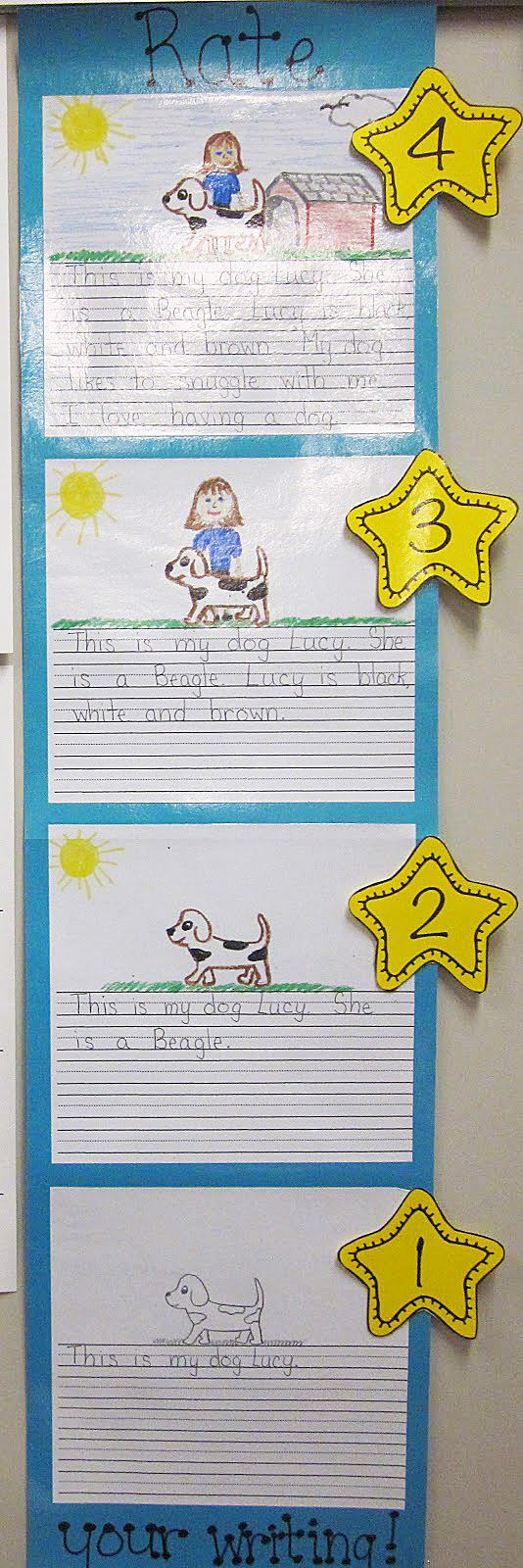Clutter-Free Classroom: Visual Writing Rubric {INSPIRED}