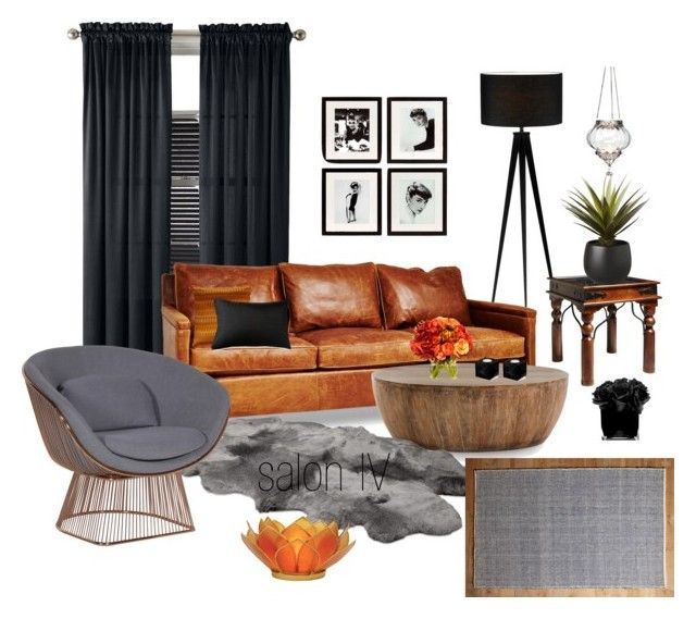 salon IV by a-filipczak on Polyvore featuring interior, interiors, interior design, dom, home decor, interior decorating, Arteriors, John Lewis, Dot & Bo and Cultural Intrigue