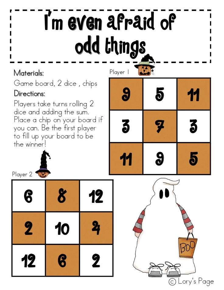 Lory's Page: Even and Odd Halloween Freebie