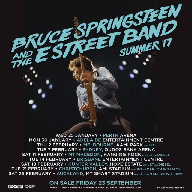 GoRockfest.Com: Bruce Springsteen Tour Dates 2017
