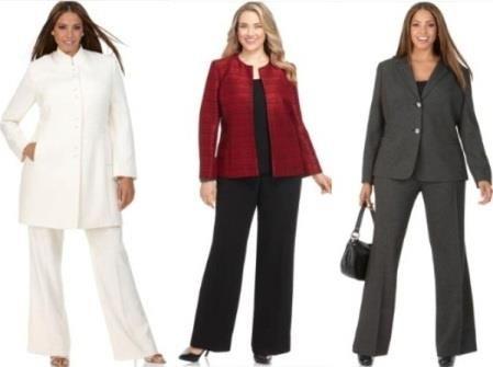 Костюмы для женщин полных стильная одежда деловой костюм