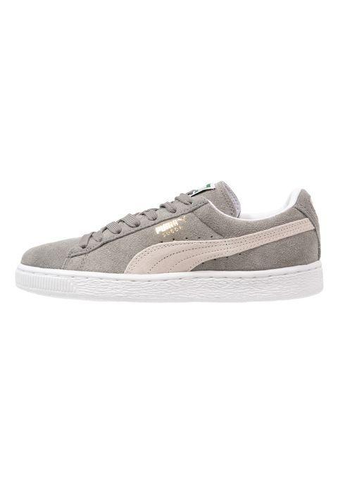 SUEDE CLASSIC+ - Sneakers - steeple gray/white @ Zalando.dk ...