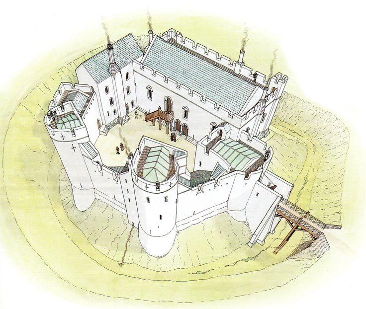 Grosmont Castle Reconstruction Wales 1360 AD