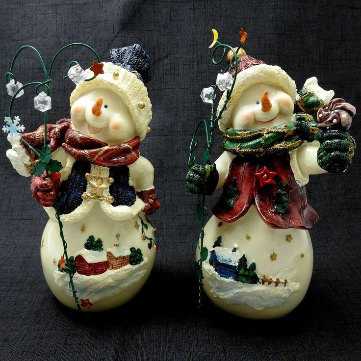 Home Interiors Gifts: Home Interiors And Gifts Homco Snowman Pals Figurines
