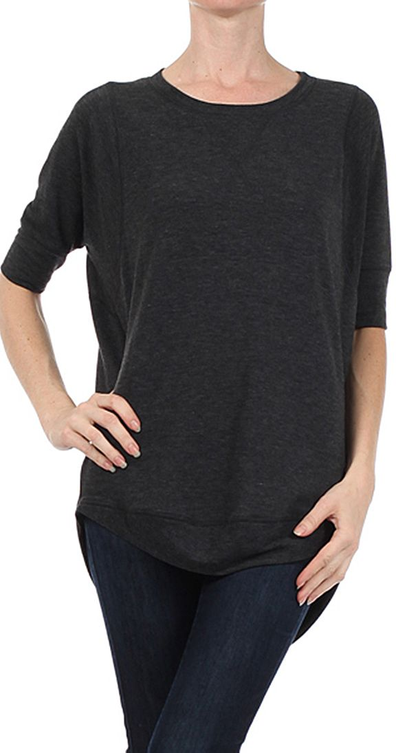 http://www.silvericing.com/p262/christie-sweatshirt-pullover-sweater/product_info.html?osCsid=48jc47e9gor265spdvkps7ic31 Christie Sweatshirt - $49.99  CAD Dolman 3/4 length sleeves Hi-low hemline Rounded neckline 48% Rayon, 48% Polyester, 4% Spandex Made in the USA
