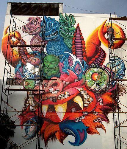 mascara de la diablada en grafitty - wino_mire - Fotolog