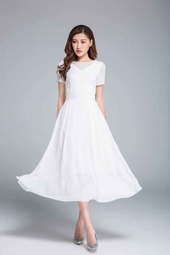 d1335ac40 vestido blanco vestido de gasa vestido vestido de Dama de