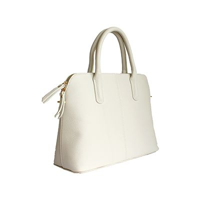 Serafina Italian Cream Leather Dome Handbag - £54.99