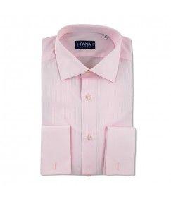 Pink Herringbone Stripe Luxury  Shirt