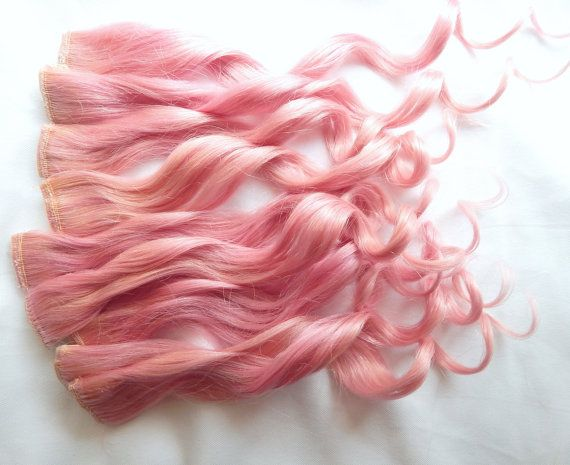 100% Human Hair Extensions : Light Pastel Pink by TheUnicornMane