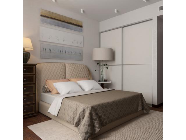 Дизайн маленькой спальни в белом цвете: фото