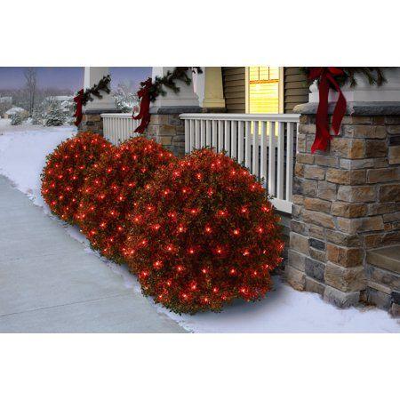 Christmas Purchase Holiday Time Christmas Net Light Set Red Bulb,150
