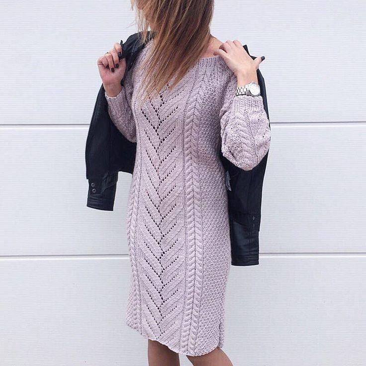 Платье спицами по описанию пуловера. Обсуждение на LiveInternet - Российский Сервис Онлайн-Дневников