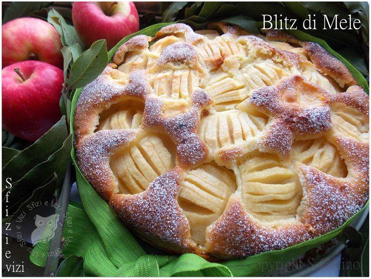 Blitz di Mele ovvero torta di mele pronta in un lampo! - Ricetta senza burro e senza latticini -
