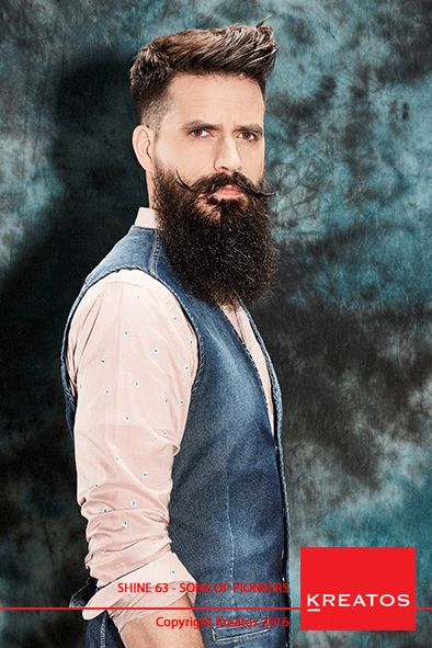 Kreatos kapsels voor mannen 2016 - Sons Of Pioneers - haar kort bruin met baard trend