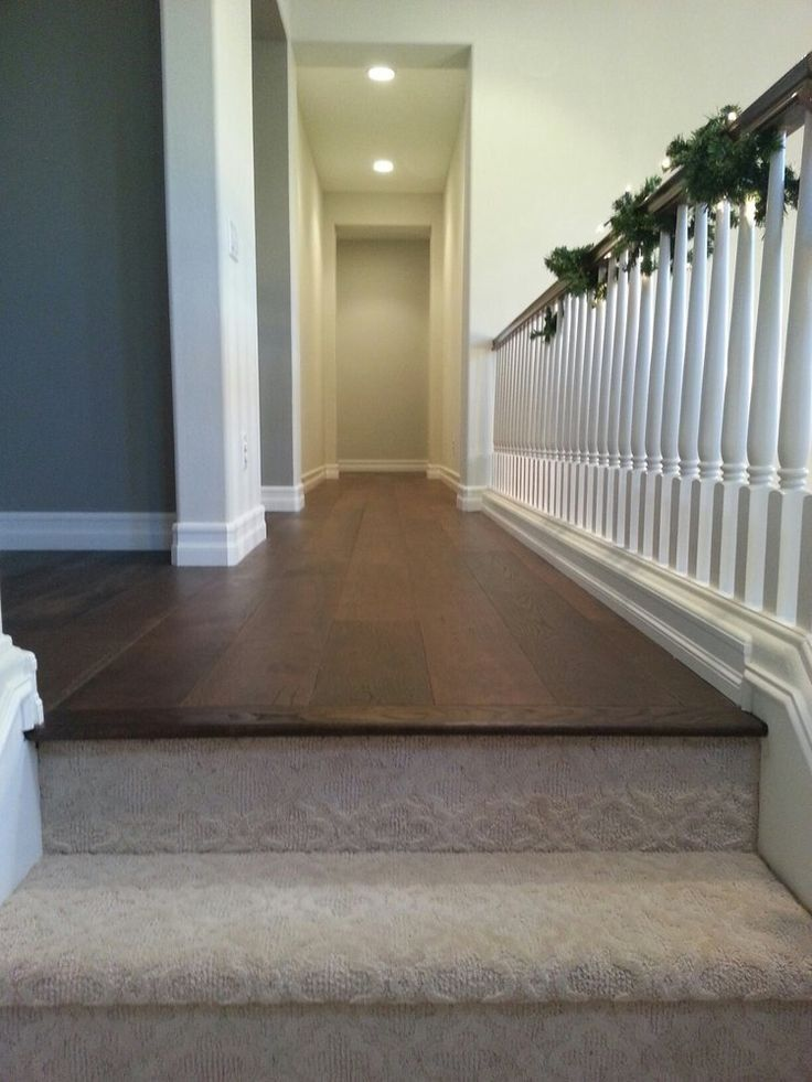 Carpeted Steps And Wood Hallway In 2019 Carpet Stairs