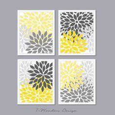gray and yellow bathroom decor ideas - Google Search