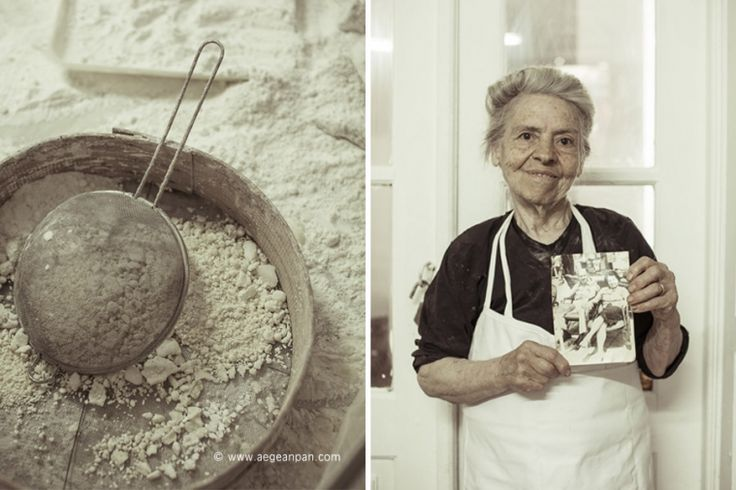 Mrs. Anna Tsangari at her traditional pastry shop in Hydra