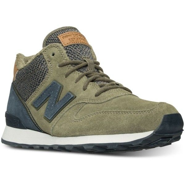 New Balance Women's 696 Outdoor Casual Sneakers from Finish Line featuring polyvore, women's fashion, shoes, sneakers, low sneakers, new balance footwear, new balance shoes, vintage style shoes and low shoes