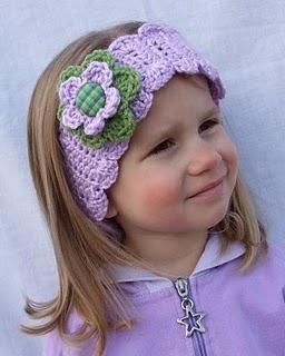 Little Girls Crocheted Winter Headband