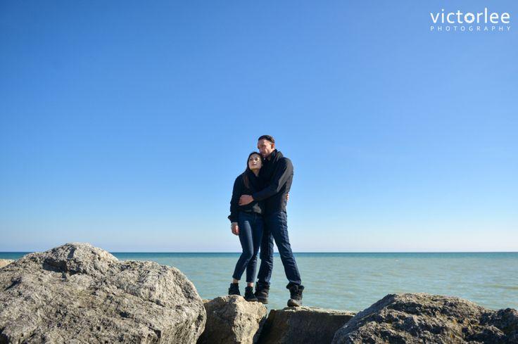 Scarborough Bluffs engagement session, Ontario Lake, waterfront