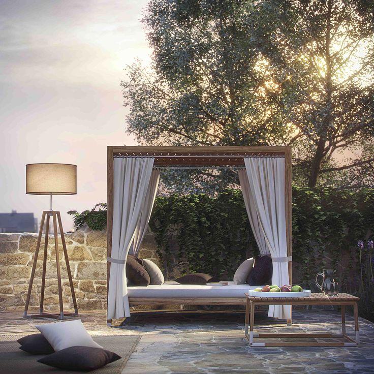 Outdoor teak day bed - Italy Dream Design