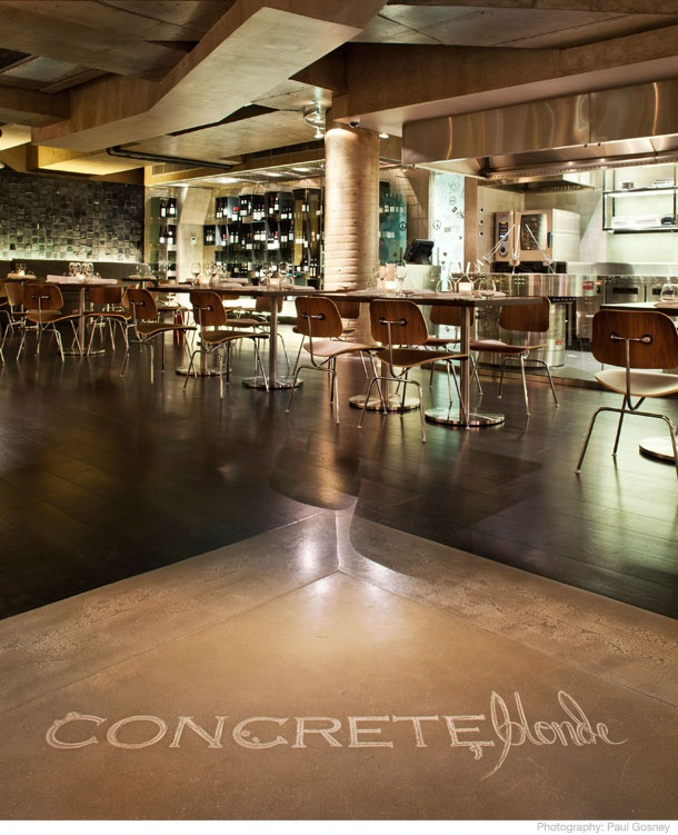 Concrete Blonde - Axolotl Concrete coating is 0.5mm thick and can be applied to virtually any solid surface.
