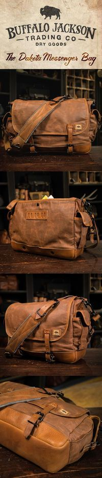 This traditional sized vintage military messenger bag is crafted from waxed canvas with leather accents. Perfect for your laptop, meeting materials, and your copy of Harrison & Kooser's Braided Creek (to read during your meeting). mens bags | leather | canvas | crossbody satchel