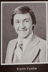 "Kevin Spacey (then ""Kevin Fowler"") -- Class of 1977, Chatsworth High School yearbook, Chatsworth, California."