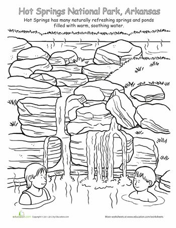 Hot Springs National Park | Coloring pages, National parks ...