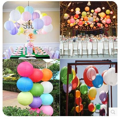 Create a scene with coloured paper lanterns from a Shanghai vendor. Eight colours available in three different sizes. RMB 1.99 - 3.80.   http://item.taobao.com/item.htm?spm=a1z09.2.9.170.vn8t0y&id=40534380109&_u=8qbpdrc4729