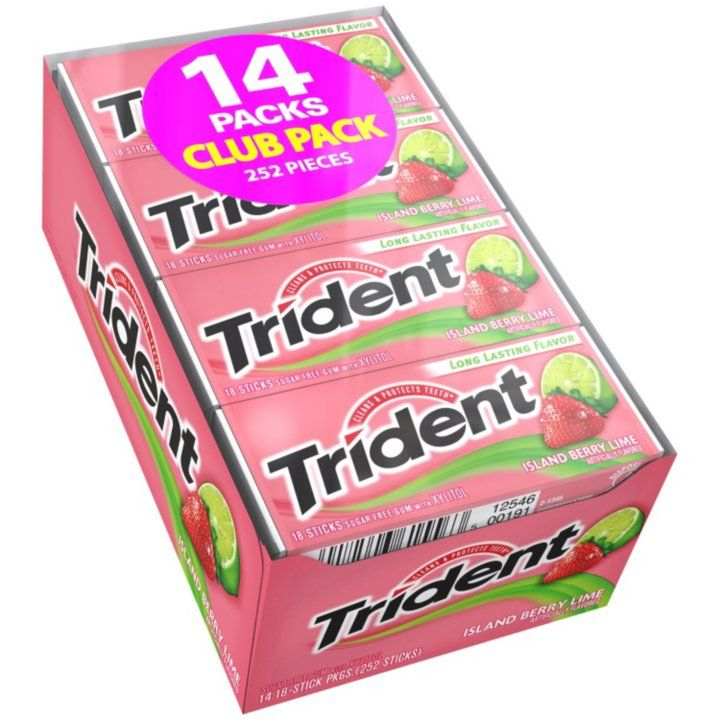 Sam's Club - Trident Island Berry Lime Sugar Free Gum (14 pk.)