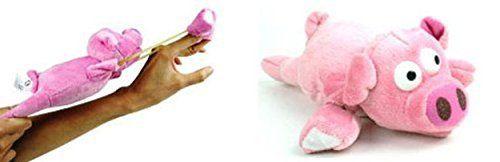 Cochon Volant: Ce cochon volant de 23 cm de long peut être lancé comme un lance-pierre en tenant c'est des bras extensibles, se retirant…