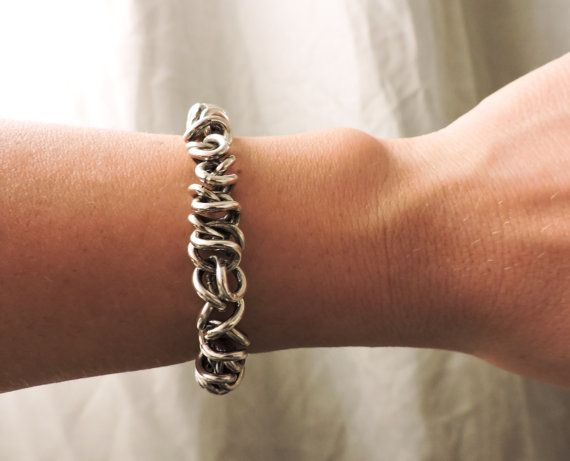 Mens Silver Bracelet  Unisex Bracelet  Sterling by Valentinolandia