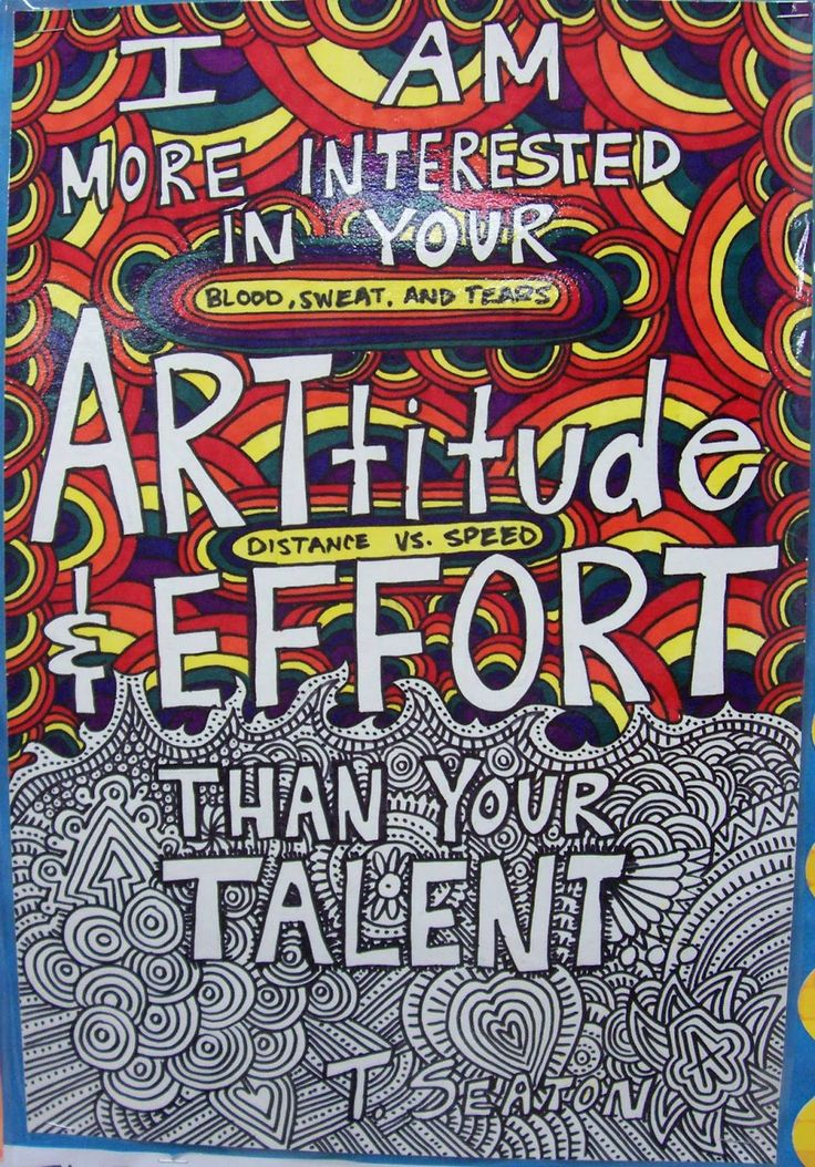 I am more interested your attitude and effort than your talent.