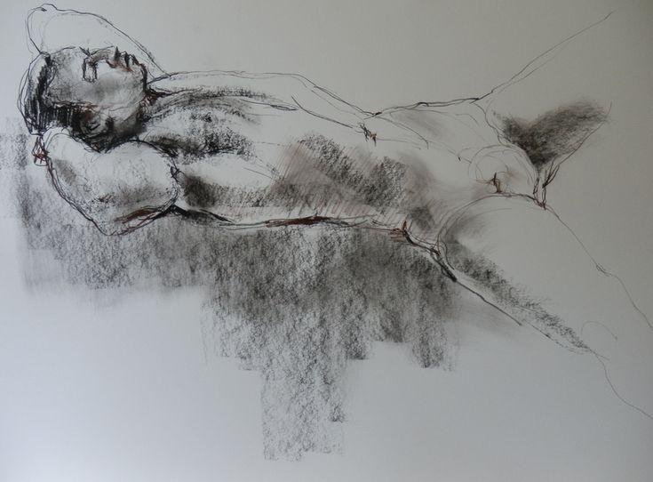 charcoal sketch by Lorna Panzenbock