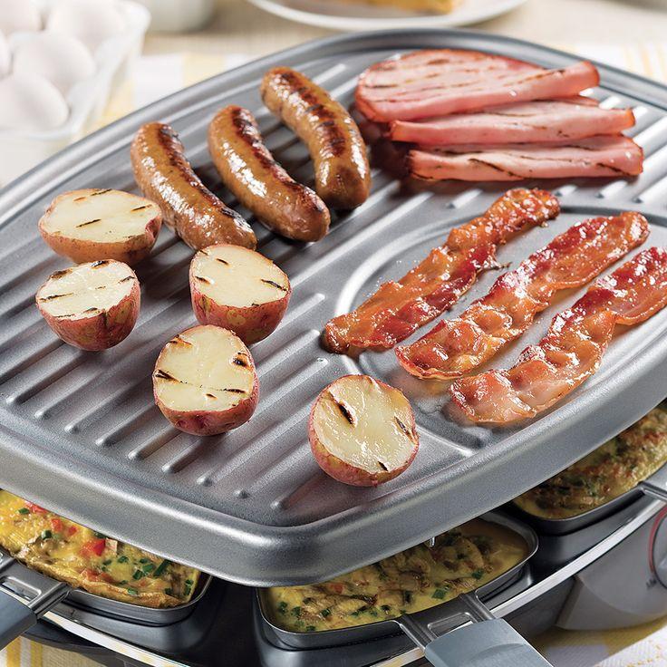Festin brunch sur le gril à raclette - Recettes - Cuisine et nutrition - Pratico Pratique