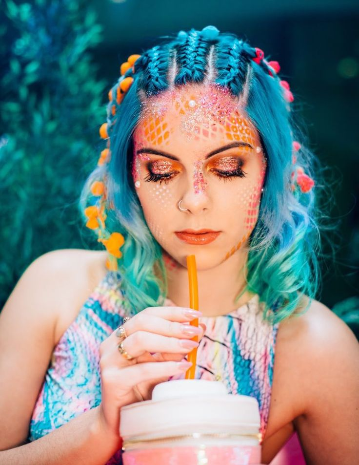 MERMAID MAKEUP | GO GET GLITTER - Sophie Hannah Richardson
