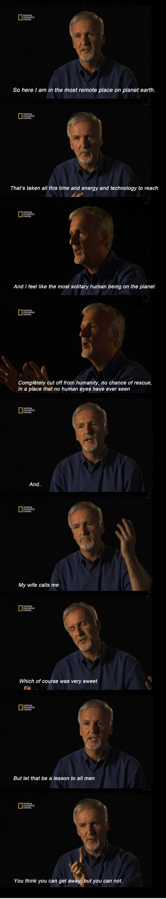 James Cameron on his deep sea dive and marriage
