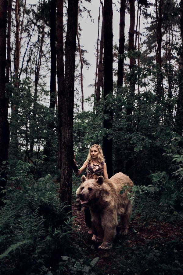 Bear woman by Olga Barantseva - Photo 157802387 - 500px