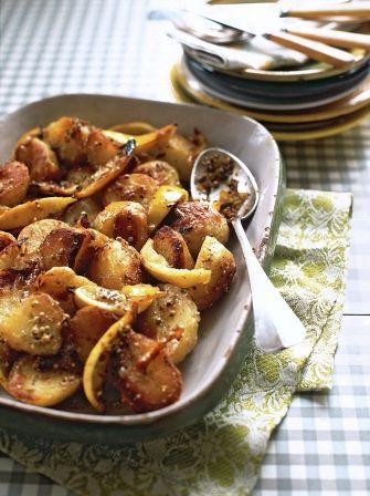 Lemon roast potatoes