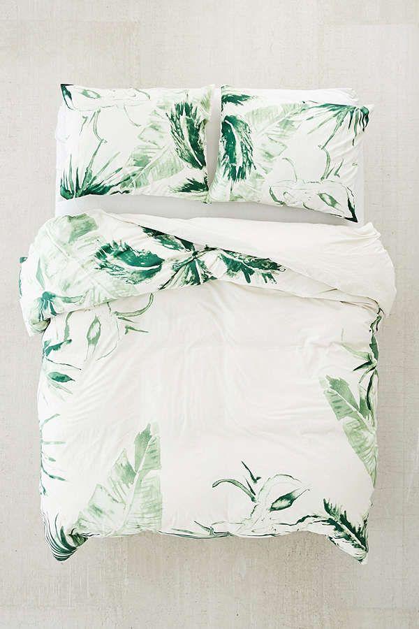 Slide View: 1: Expressive Palms Duvet Cover