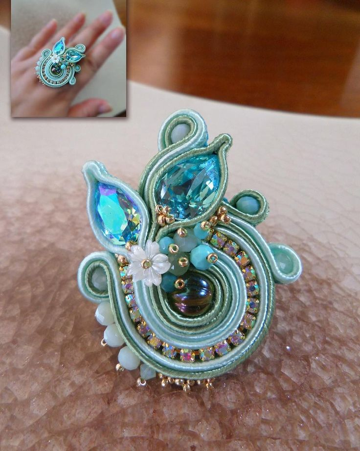 #ring #anello #soutache #beadembroidery