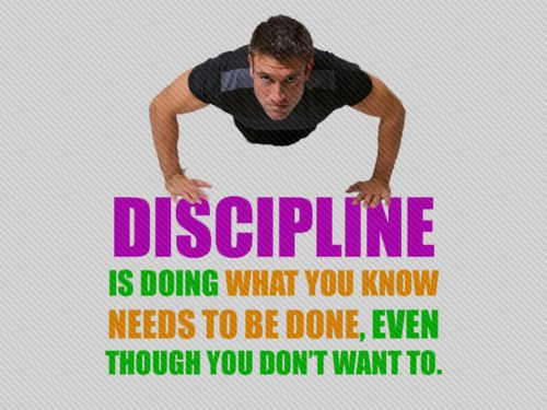 Be disciplinedFit Quotes, Daily Reminder, Remember This, Inspiration, Get Motivation, Workout Routines, Be Fit, Health, Discipline