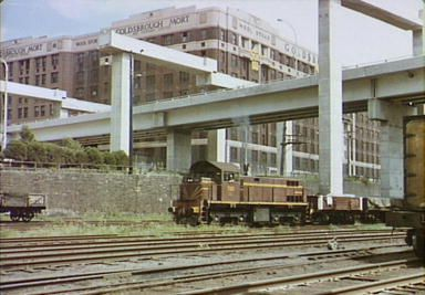 Western Distributor being onstructed over the train yards 1978: Helen