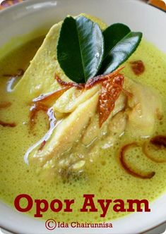 Opor Ayam is very well known in Indonesia. Some call it Javanese Chicken Curry. Yes, it's especially from Central Java. However, this cuisine has also been widely known in other Indonesian areas. It's a staple dish for Ied celebrations best enjoyed with Ketupat (Indonesian rice cake wrapped in young coconut leaves) and sometimes with Sambal Goreng Ati (beef/chicken liver in sambal). Opor Ayam is actually chicken stew cooked in coconut milk plus a variety of spices like lemongrass, kencur…