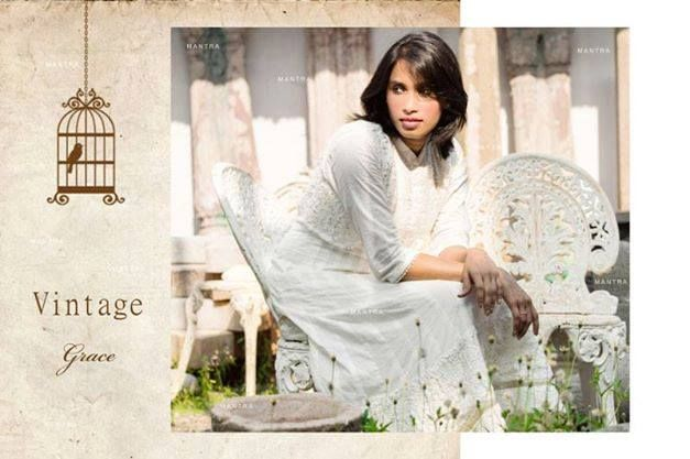 10% OFF! Vintage Grace, a line of festive anarkalis in soft muls with intricate crochet lace, and the slightest hint of shimmer. Shop for this collection at http://www.shalinijamesmantra.com/vintage-grace.html