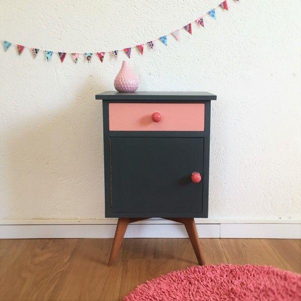 Painted vintage bedside table                                                                                                                                                                                 Plus