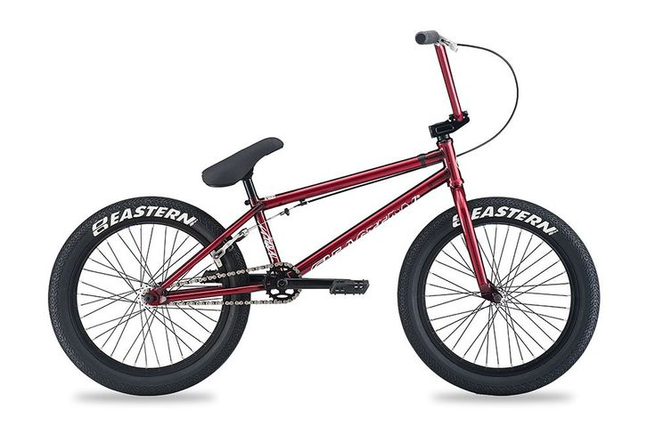 """Eastern Bikes Natural BMX Bike, Trans Red, 20"""". Tough and lightweight full chromoly BMX frame with a 20.85 inch top tube. Super grippy Eastern squealer 100Psi BMX tires. Strong and light double wall alloy rims - front and rear. Odyssey Twisted PC BMX pedals. Pivotal style Eastern BMX seat and alloy post."""
